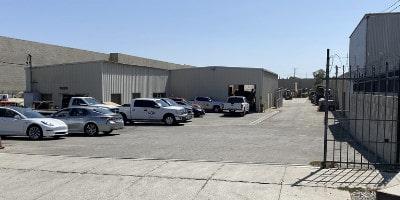 Gate entry from street at 9879 San Fernando Rd, Pacoima, CA 91331